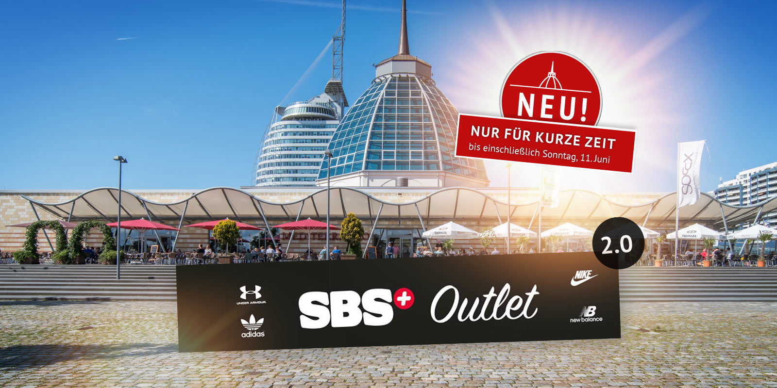 sbs outlet 2 0 sportswear outlet das mediterraneo. Black Bedroom Furniture Sets. Home Design Ideas